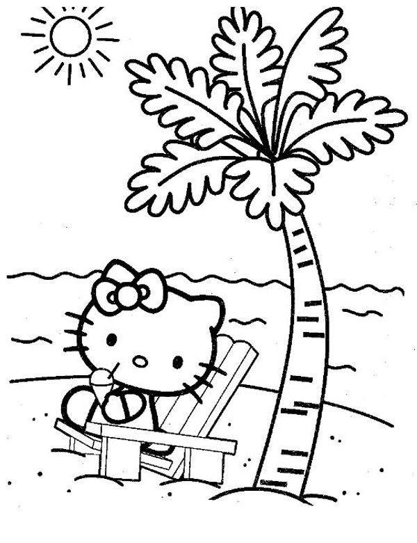 Hello Kitty Na Bezludnej Wyspie Kolorowanka