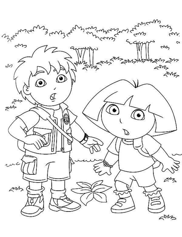 Malowanka Do Wydrukowania Z Dora I Diego