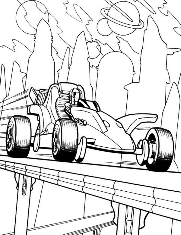 Formula 1 Na Torze Kolorowanki Dla Dzieci