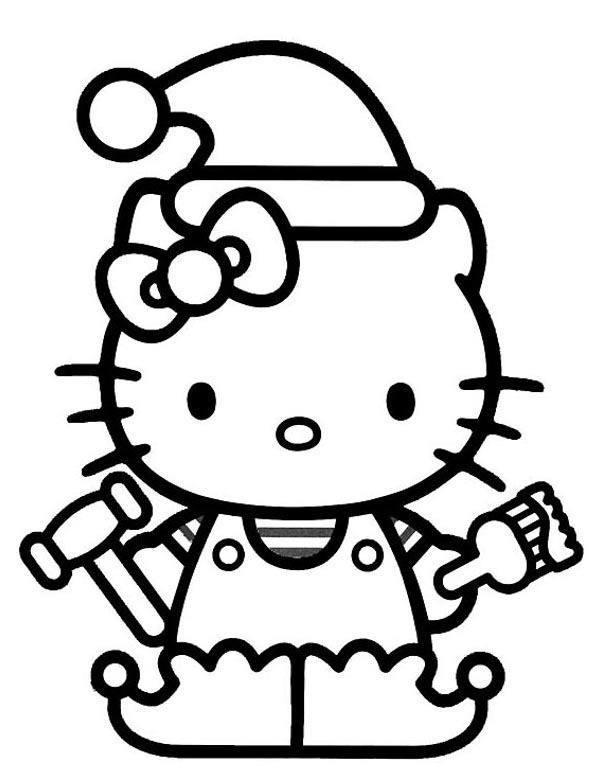 Hello Kitty Malowanka Kolorowanka Z Kotkiem