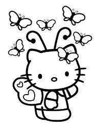 Darmowe Kolorowanki Dla Dzieci Z Kotkiem Hello Kitty