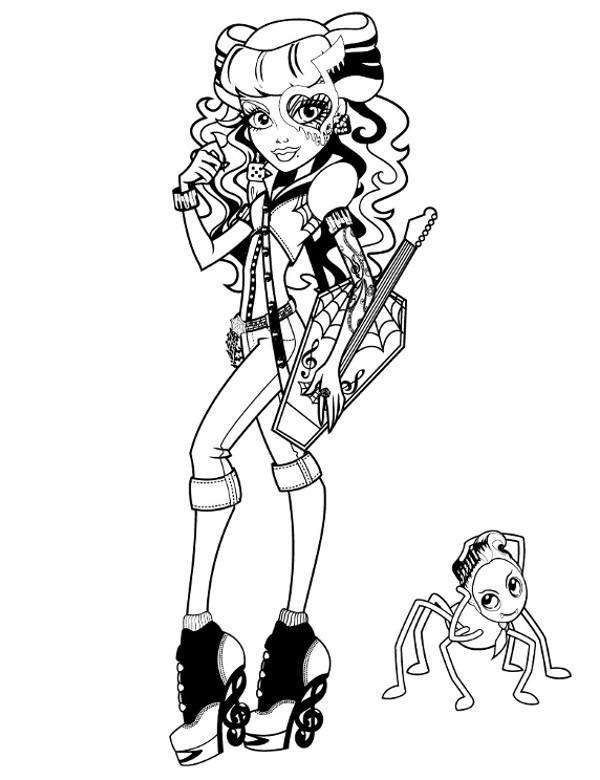 Kolorowanki Z Monster High Operetta