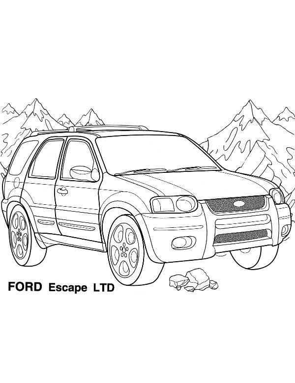 Terenowy Ford Escape Kolorowanka Malowanka