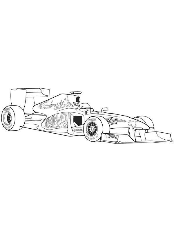 Kolorowanka Z Profesjonalnym Bolidem Formula 1
