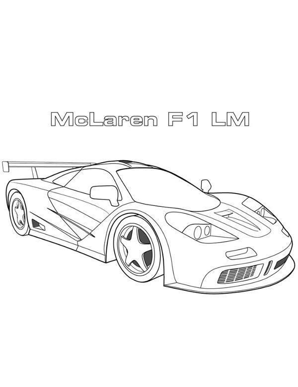 Kolorowanka Mclaren F1 Samochod Wyscigowy