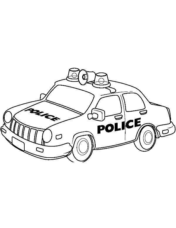 Kolorowanka Samochod Policyjny Dla Dzieci