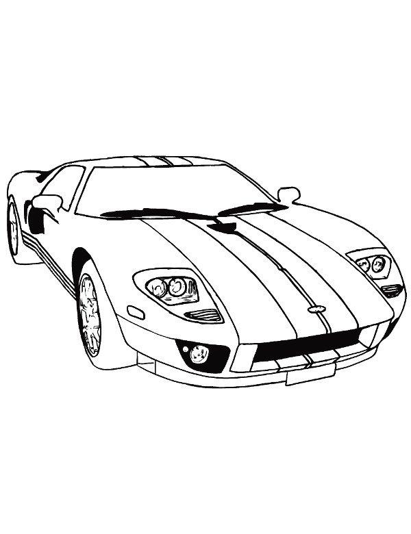 Sportowe Auto Wyścigowe Malowanka Do Druku