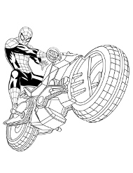 Motor Spidermana malowanka