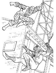 Kolorowanka ze Spidermanem za darmo
