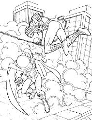 Zbiór darmowych malowanek do druku ze Spidermanem