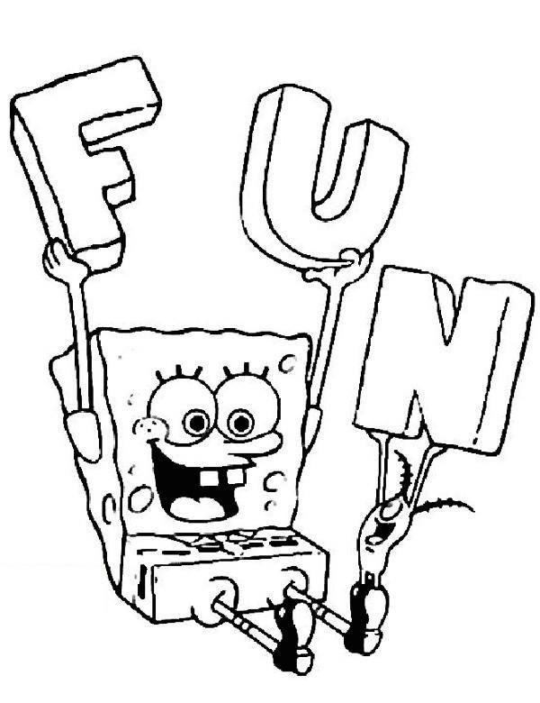Kolorowanka Spongebob Druku Malowanka
