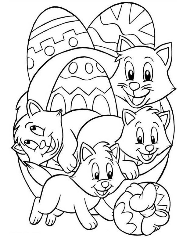 Picture to colour Easter