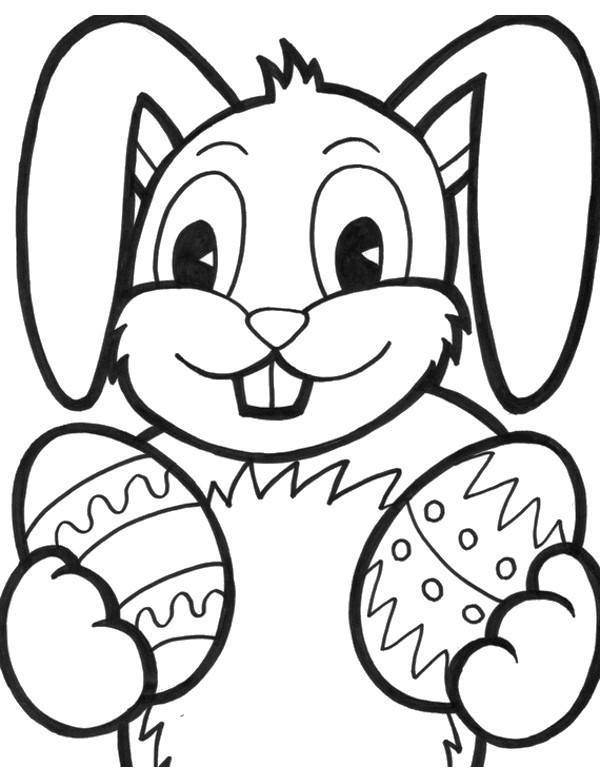 Tradycyjna Kolorowanka Wielkanocna Zając Wielkanocny