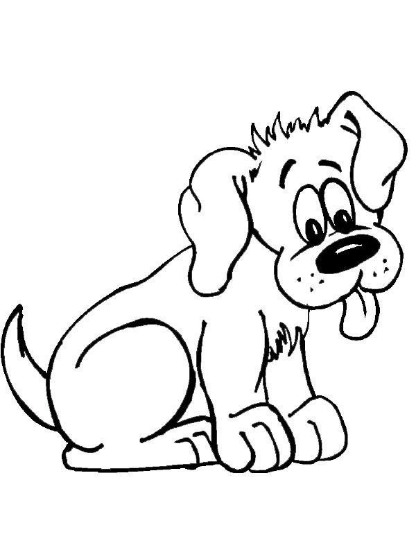 Pies Obrazek Do Wydruku I Pokolorowania