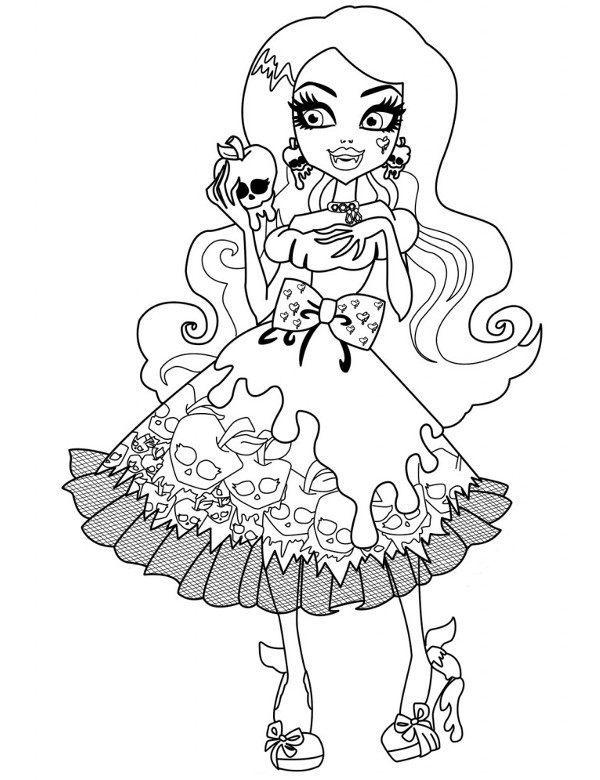 Kolorowanki Malowanki Dla Dzieci Monster High
