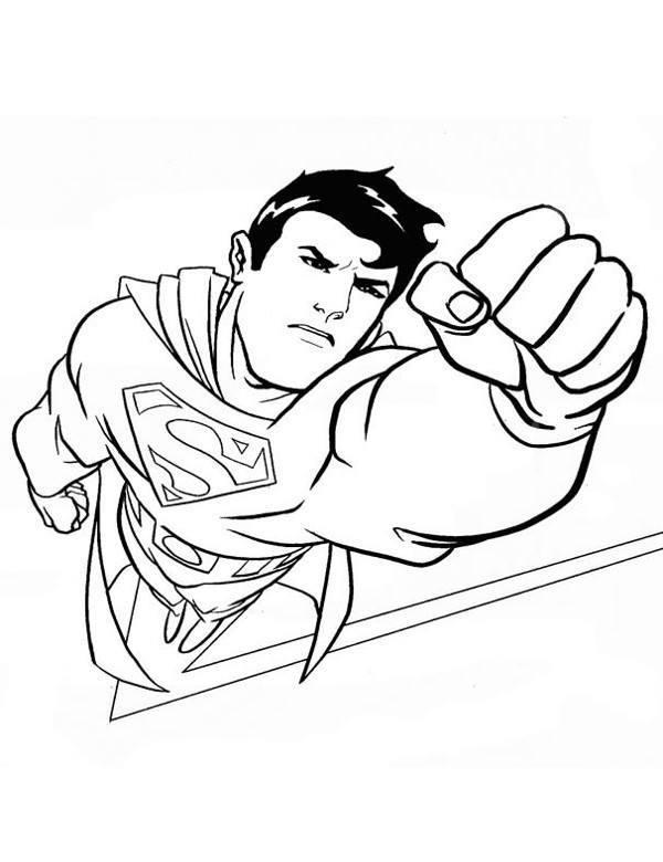 Superman Darmowa Kolorowanka Malowanka