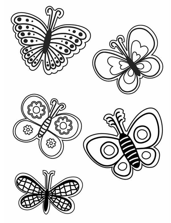 Motyle Darmowe Kolorowanki Do Wydruku