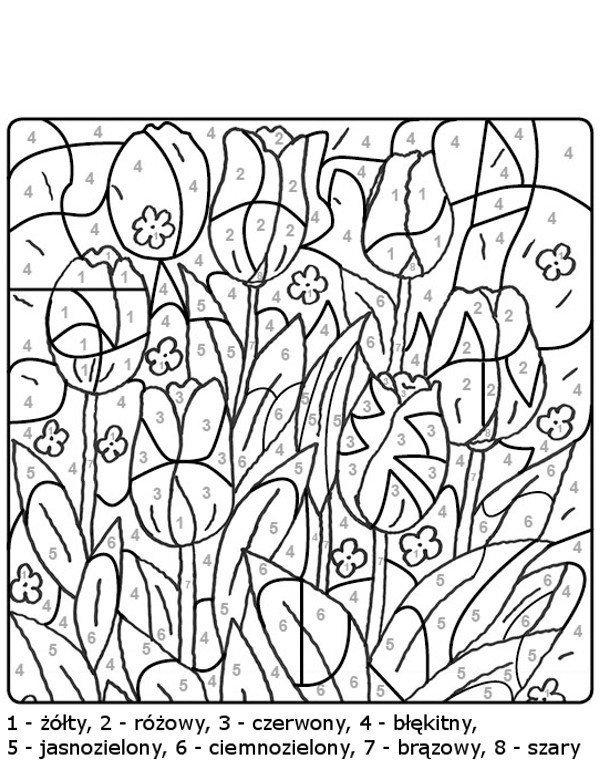 Zadania Dla Dzieci Kolorowanie Wedlug Instrukcji