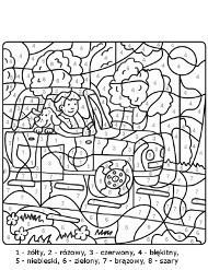 Kolorowanie Obrazkow Wedlug Numerow Rozrywka Dla Dzieci