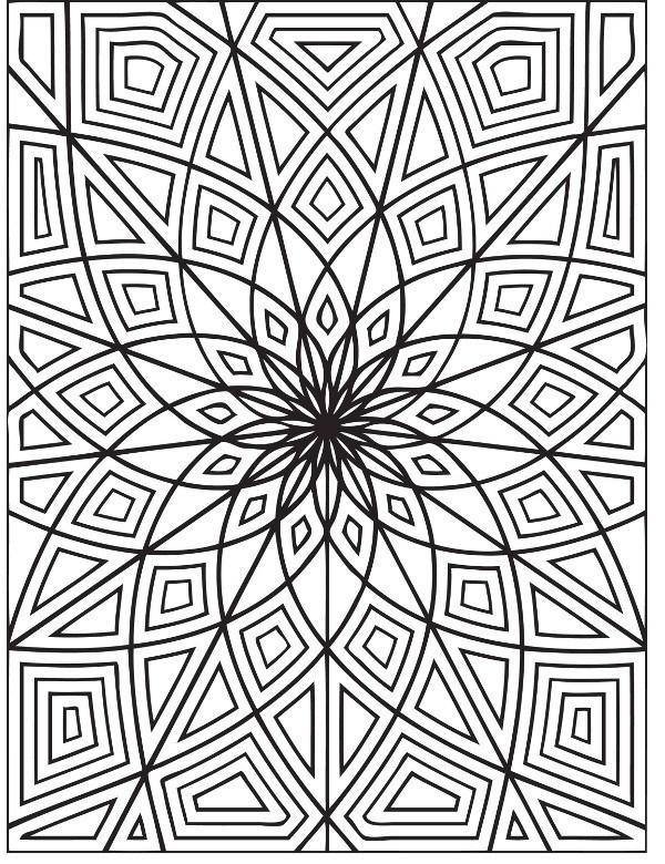 Kształty Symetryczne Malowanka Do Druku