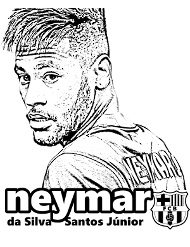 Neymar Kolorowanka Mini Kolorowanki Do Druku E Kolorowanki