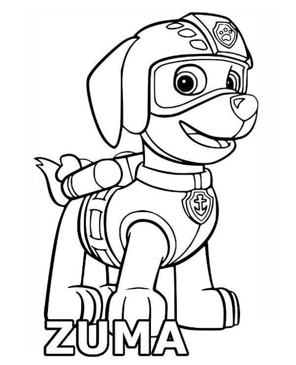 Kolorowanki Komiksy Do Druku Za Darmo Dla Dzieci I: Zuma Malowanki, Kolorowanki Z Bohaterami Psiego Patrolu