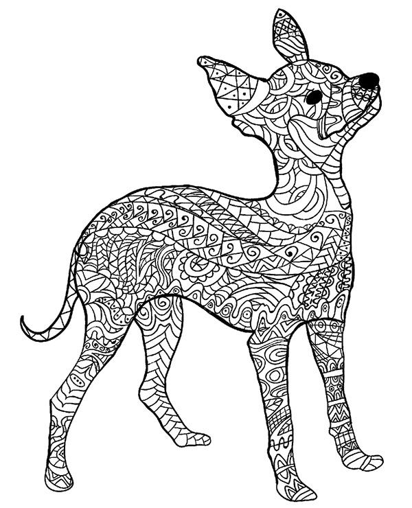 Pies Malowanki Relaksacyjne Do Wydrukowania