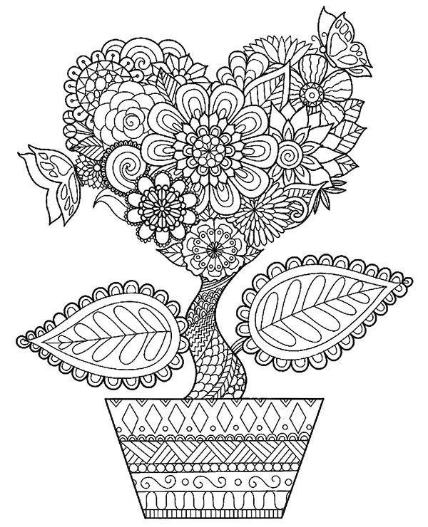 Kwiat W Doniczce Malowanki Kolorowanki
