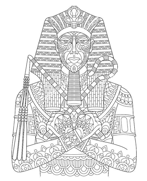 Faraon Sfinks Kolorowanka Do Wydruku