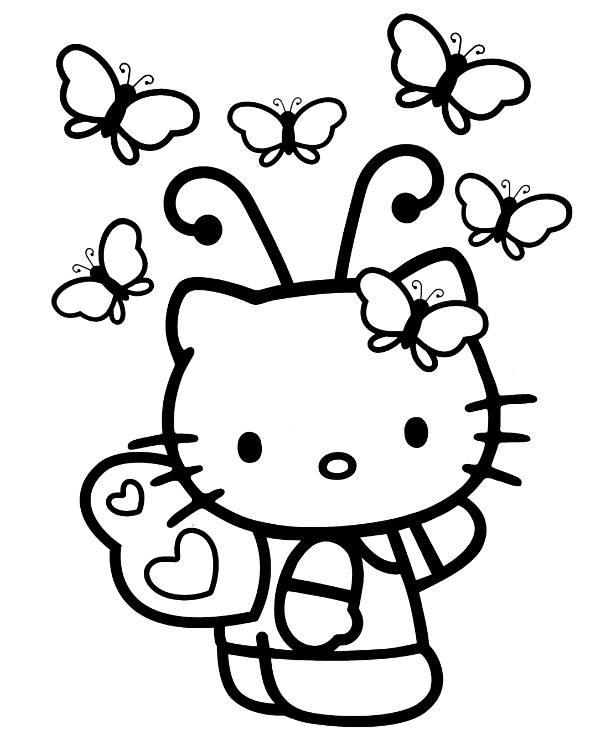 Kolorowanka Hello Kitty Na Halloween