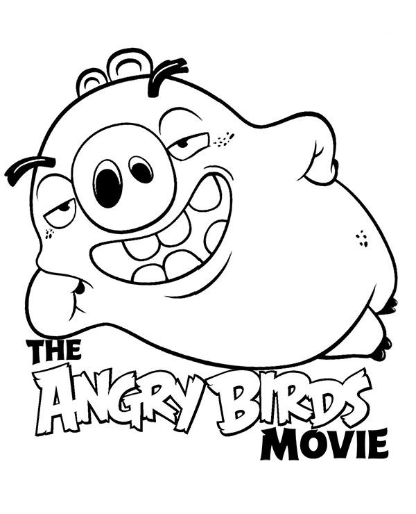 Swinia Z Filmu Angry Birds Do Pokolorowania