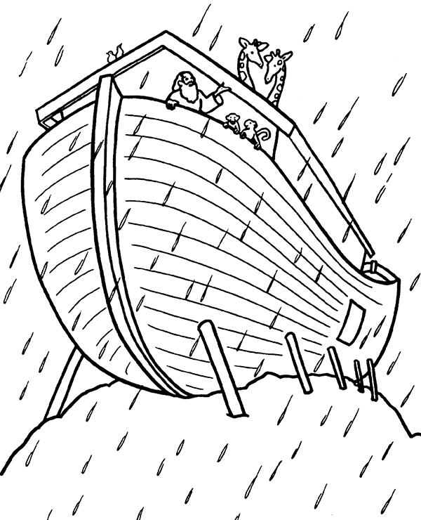 Arka Noego Darmowa Kolorowanka Chrześcijańska Do Wydruku