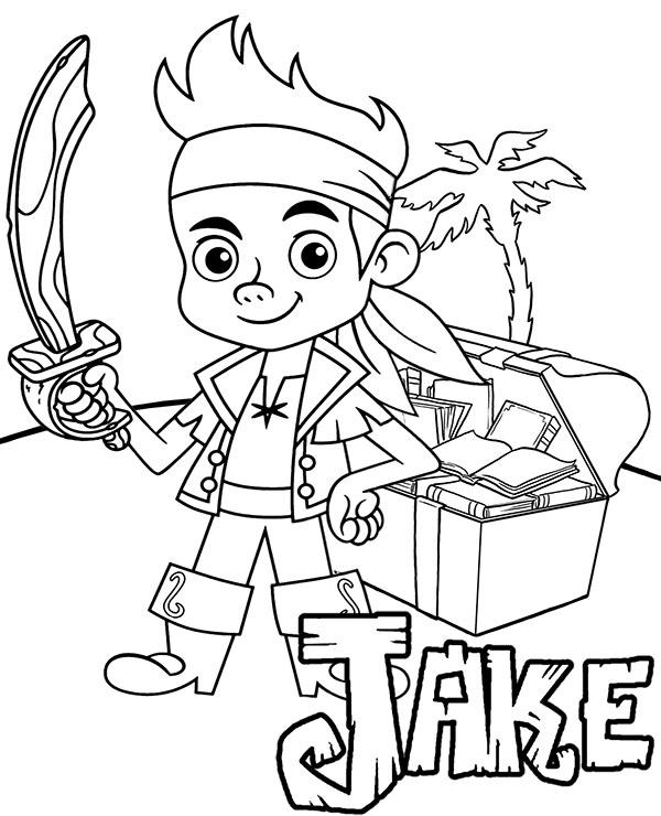 Jake I Piraci Z Nibylandii Malowanka Dla Dzieci