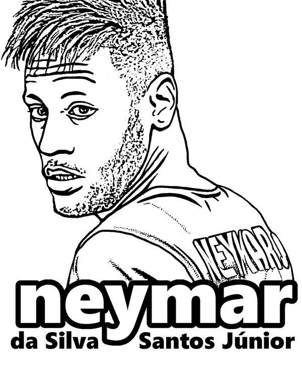Neymar Fc Barcelona Psg Kolorowanka Dla Dzieci