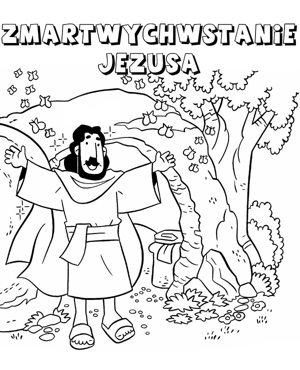 Zmartwychwstanie Jezusa Chrystusa kolorowanka do wydruku