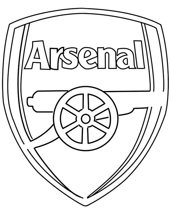 D Line Drawings Logo : Kolorowanka do druku z herbem arsenalu londyn
