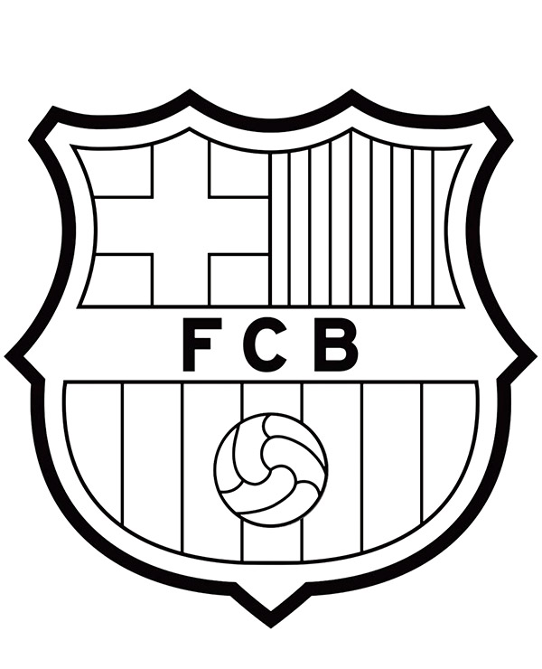 Kolorowanka Pilkarska Z Herbem Fc Barcelona