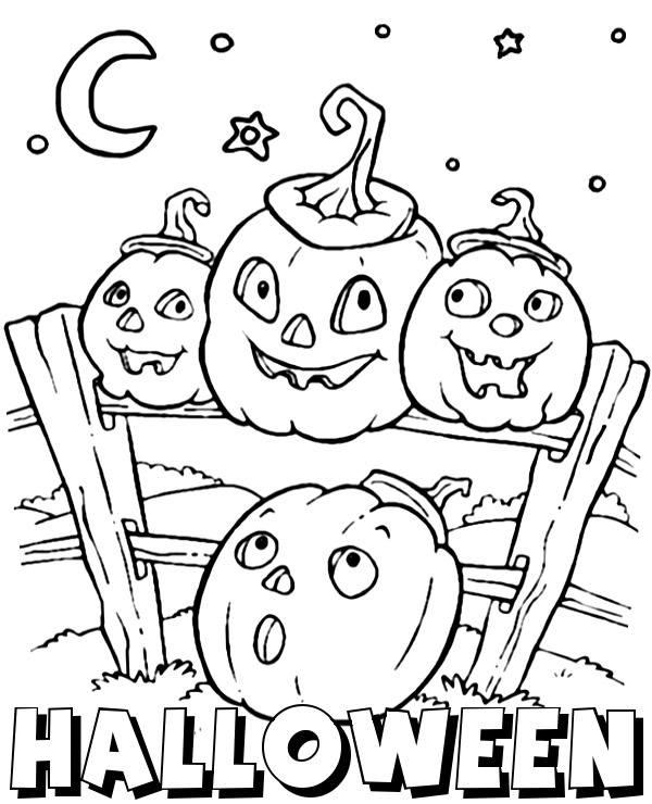 Halloween Kolorowanka Dynie Kolorowanki Do Druku E Kolorowanki