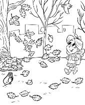 Jesień Jesienne Kolorowanki Do Wydruku Z Porami Roku