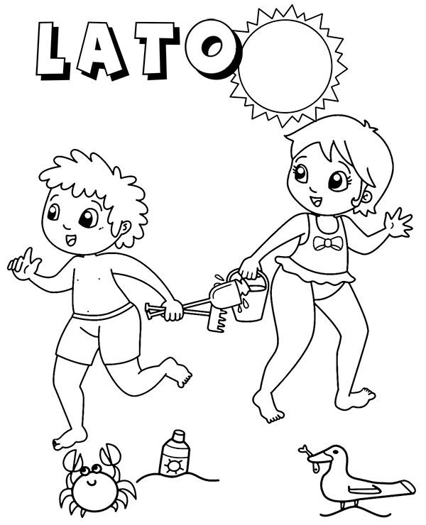 Zabawa Dzieci Na Plazy Kolorowanki Malowanki