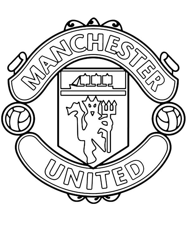 kolorowanka z herbem manchester united do wydruku