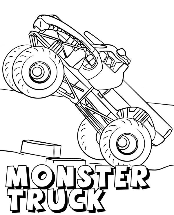 Monster Truck Kolorowanka Malowanka Do Pobrania