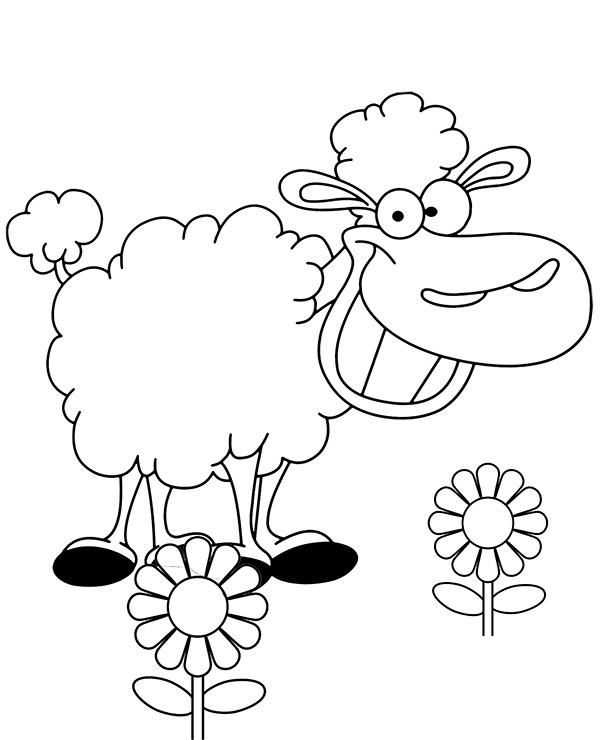 Wesola Owca Latwa Kolorowanka Do Druku