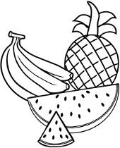 Owoce Kolorowanki Do Druku Dla Dzieci Z Owocami