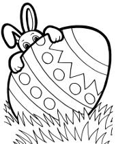 Wielkanocna pisanka na kolorowance do wydrukowania