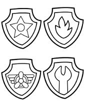 Odznaki bohaterów Psiego Patrolu