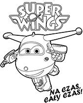 Kolorowanka z Dżetkiem malowanki Super Wings