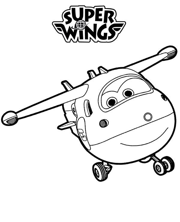 Dzetek I Logo Super Wings Kolorowanki