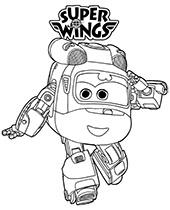 Frunia z bajki Super Wings obrazki do wydrukowania