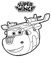 Śrubek i Logo Super Wings kolorowanki do druku